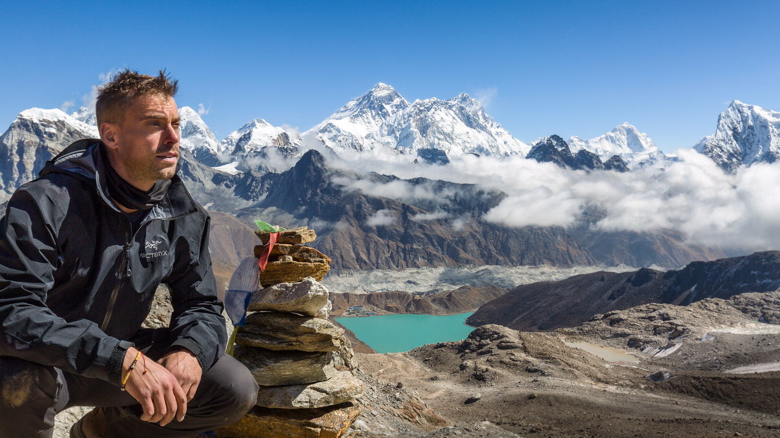 Thomas Andlauer with Everest View